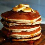 receta de ricos panqueques de avena y banana